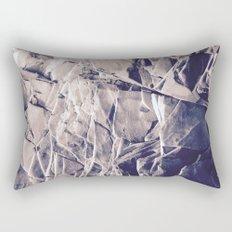 Cracked Rocks Purple Rectangular Pillow