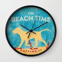 Beach Time Lab by Stephen Fowler Wall Clock