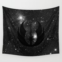jedi Wall Tapestries featuring Jedi Order and Stars by foreverwars