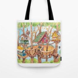 Treehouse Fun Farm Tote Bag