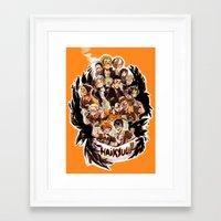 haikyuu Framed Art Prints featuring haikyuu!!: crows by Daniela Viçoso