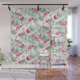 Flamingo Paradise Wall Mural