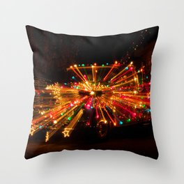Candy Cane Lane Chevy Truck Throw Pillow