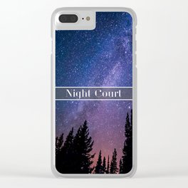 Night Court Clear iPhone Case