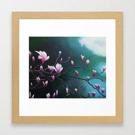 Magnolia Morning Framed Art Print