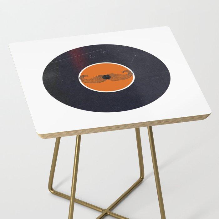 Vinyl Record Art & Design   Handlebar Mustache Side Table