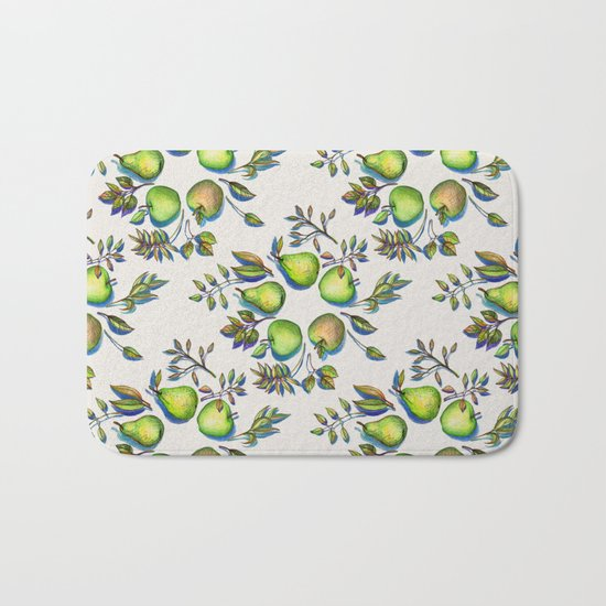 Summer's End - apples and pears Bath Mat