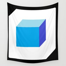 Blue Cube Wall Tapestry