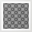Retro . Lace black and white pattern . White lace on a black background . by fuzzyfox85