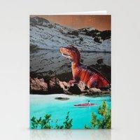 dinosaur Stationery Cards featuring Dinosaur by John Turck