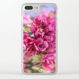A bunch of red flowers. Clear iPhone Case