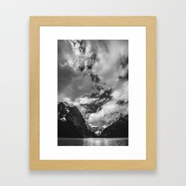 Lake Louise Black and White Minimalism Photography | Black and White | Photography Framed Art Print