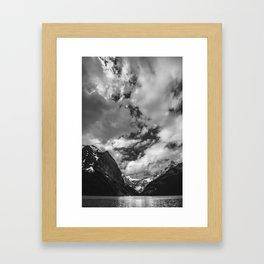 Lake Louise Black and White Minimalism Photography   Black and White   Photography Framed Art Print