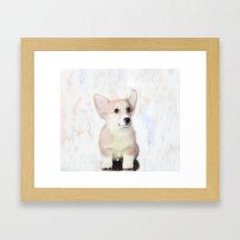 Corgi Puppy Framed Art Print