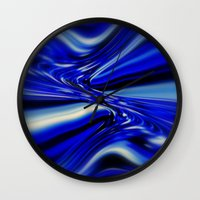 code Wall Clocks featuring Code Blue by Chris' Landscape Images & Designs