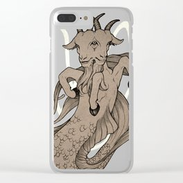 Capricious Capricorn Clear iPhone Case