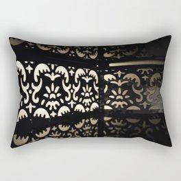 Black Stacked Design Reflection Rectangular Pillow