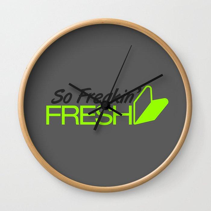 So Freakin' Fresh v4 HQvector Wall Clock