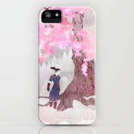 Tengami - Winter Cherry Tree (Portrait) iPhone Case