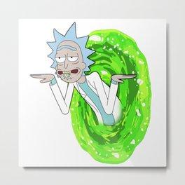 Rick Get Shwifty in a Portal Metal Print
