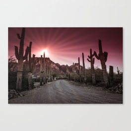 Pink Sunrise Canvas Print