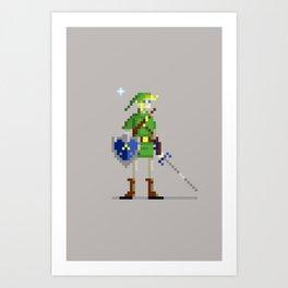 Pixel Link Art Print