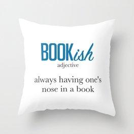 Nose Stuck in a Book Throw Pillow