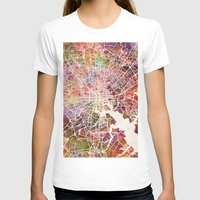 baltimore T-shirts featuring Baltimore map by MapMapMaps.Watercolors