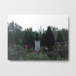 """Auguste Rodin's...""""The Thinker""""and The Eiffel Tower Metal Print"""