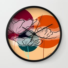 3 poppies Wall Clock