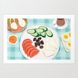 Fresh Home-cooked Turkish Breakfast Art Print