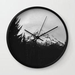 Mt. Hood B&W Wall Clock