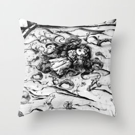 Sterile doll Throw Pillow