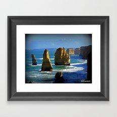 Limestone Rock Stacks - Twelve Apostles Framed Art Print