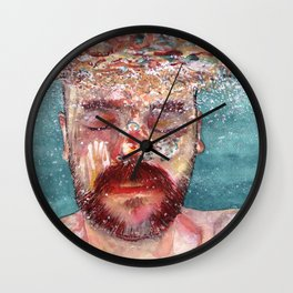 Watercolour Wall Clock