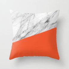 Marble and flame color Throw Pillow