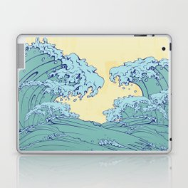 Waves in Japanese style Laptop & iPad Skin