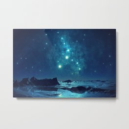 Luminous Blue Stars in the Cold Wintery North Metal Print