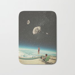 Summer with a Chance of Asteroids Bath Mat