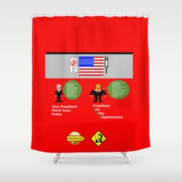 President KKK looks at Mexico Wall Shower Curtain