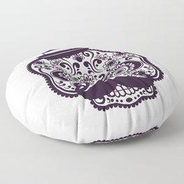 Halloween Sugar Skull Floor Pillow