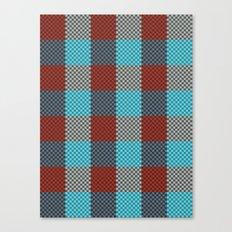 Pixel Plaid - Cranberry Bog Canvas Print