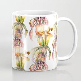 Watercolor Paphiopedilum  Orchids in Vivid Colors Coffee Mug