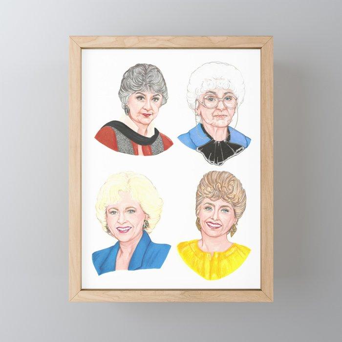 The Golden Girls Framed Mini Art Print