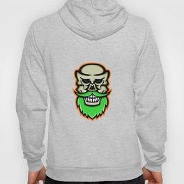 Bearded Skull or Cranium Mascot Hoody