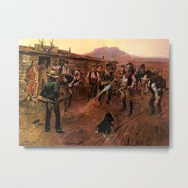 """The Tenderfoot"" by Charles M Russell Metal Print"