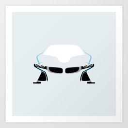 BMW i8 Art Print