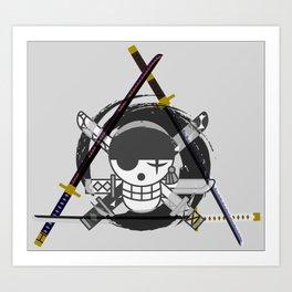 Zoro's Katanas - One Piece Art Print