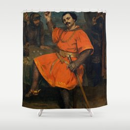 "Gustave Courbet ""Louis Gueymard (1822–1880) as Robert le Diable"" Shower Curtain"