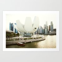 singapore Art Prints featuring Singapore by Jeremiah Wilson